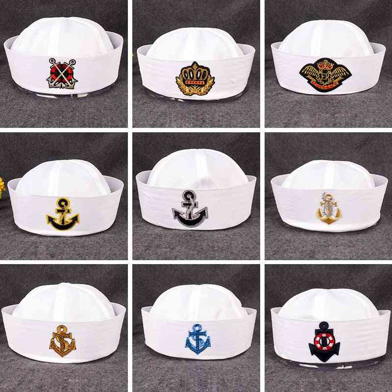 Military Hats For Adult, Sailors, Captain, Navy Marine Cap, Anchor Sea Boating, Kids, Party Cosplay, Festival