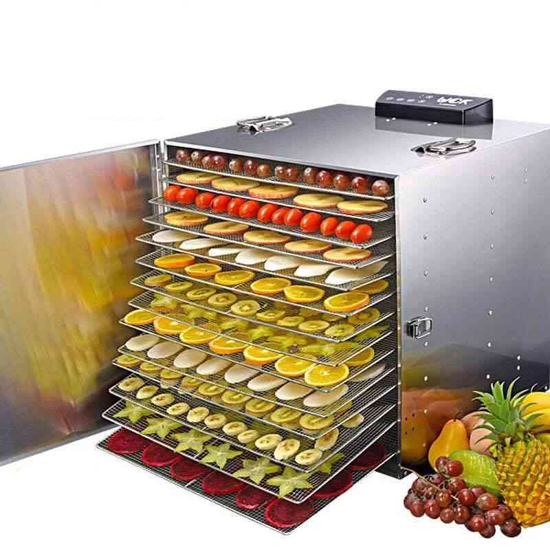 Commercial Professional Fruit Food Dryer, Stainless Steel, Fruit, Vegetable, Pet Meat Air Dryer, Electric Dehydrator