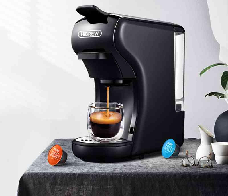 Capsule Coffee Machine, Multiple Espresso Maker, Ground  Pod