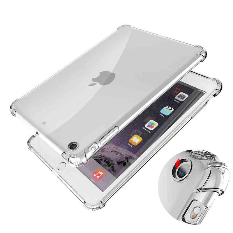 Shockproof Silicone Case Mini Air Pro, Flexible Bumper, Clear Transparent Back Cover