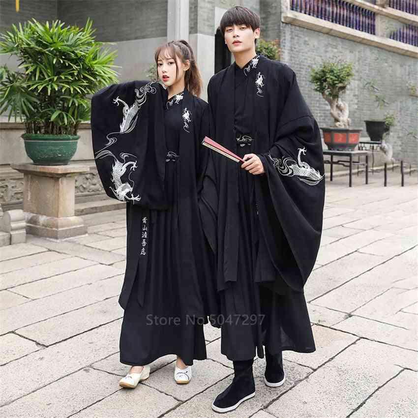 Dragon Embroidery Women, Dress Men Samurai Costume, Cosplay Cardigan, Traditional Cosplay, Party Halloween