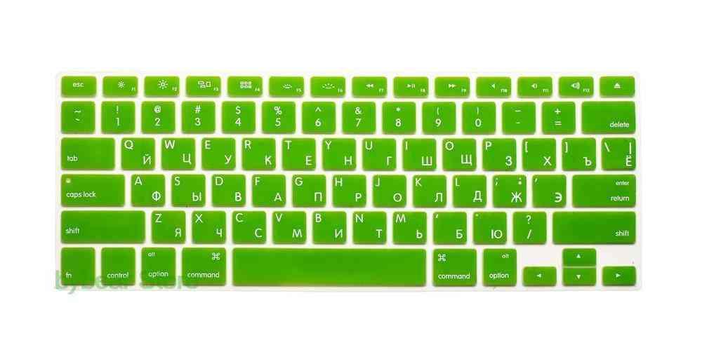 Us Eu Euro Ru Russian Letter Keyboard Cover For Macbook Air Pro Retina 13 15 Laptop