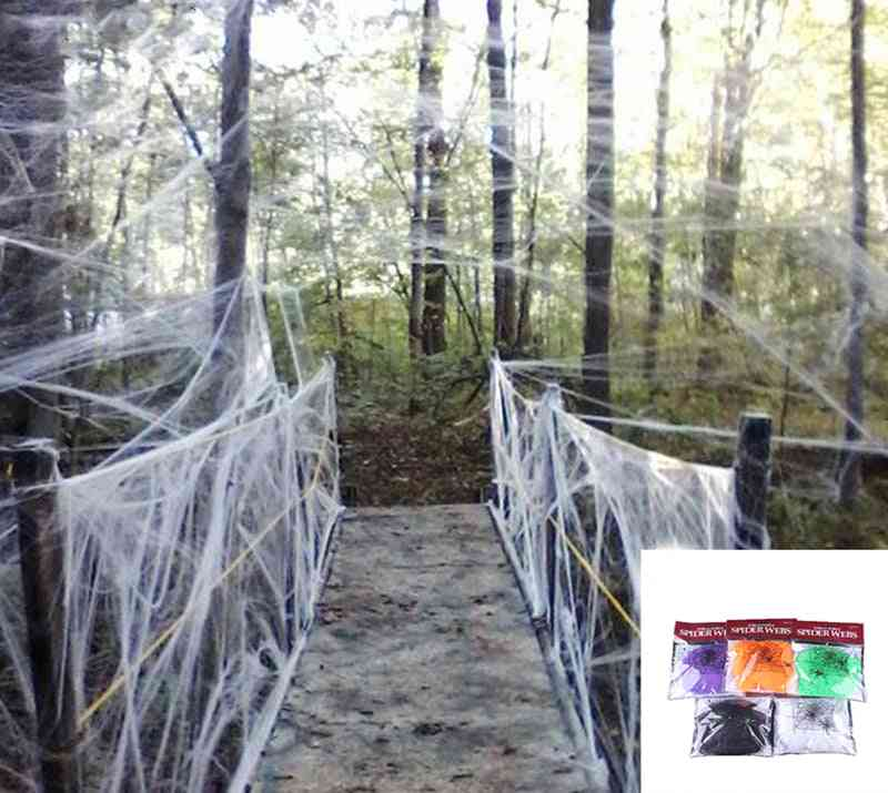 Halloween Decora O Spider Web, Scary Party Scene Props, Stretchy Cobweb, Horror House, Home Decoration Accessories