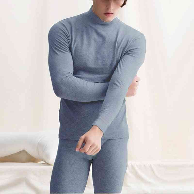 Winter Warm Tops & Pants, Male Clothing, Thermal Underwear Set