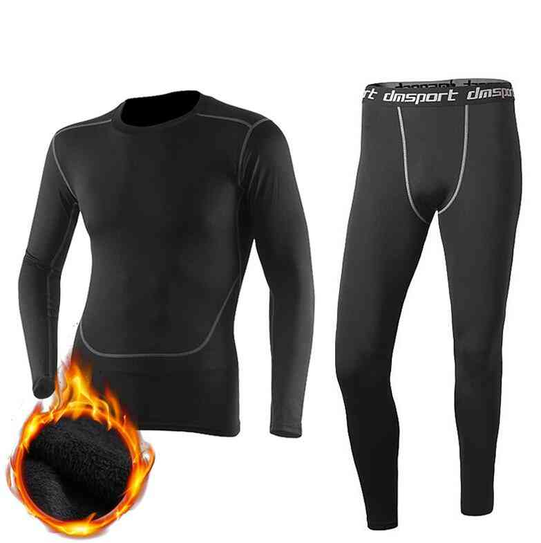 Winter Thermal Underwear Pant+clothing, Men Quick Dry, Warm Long Johns Set, Male Fitness Thermo