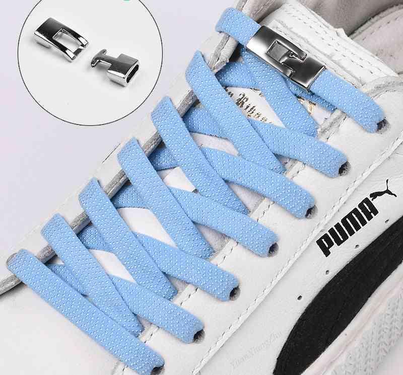 Elastic Cross Buckle Shoelaces, Quick No Tie Shoe Lace, Kids, Adult, Unisex Sneakers Strings