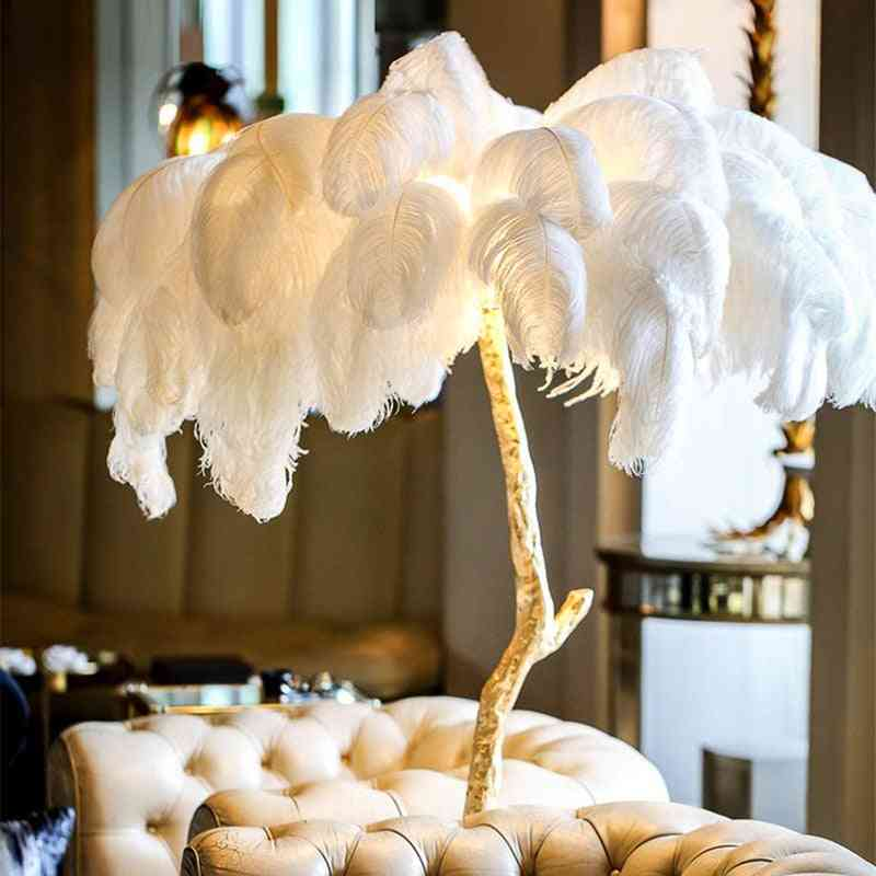 Nordic Decoration Home Ostrich Feather Floor Lamp