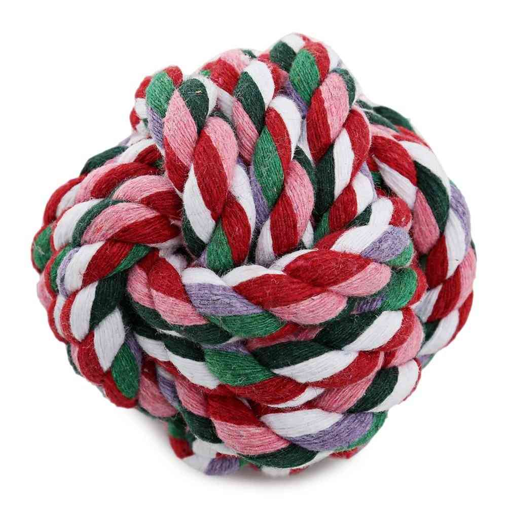 Weave Cotton Rope Knot Ball- Dog Biting Toy