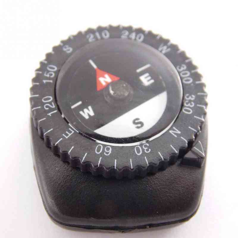 Small Liquid Filled Compass, Clip-on Paracord Bracelet Watch Band, Bag Strap For Outdoor Activity