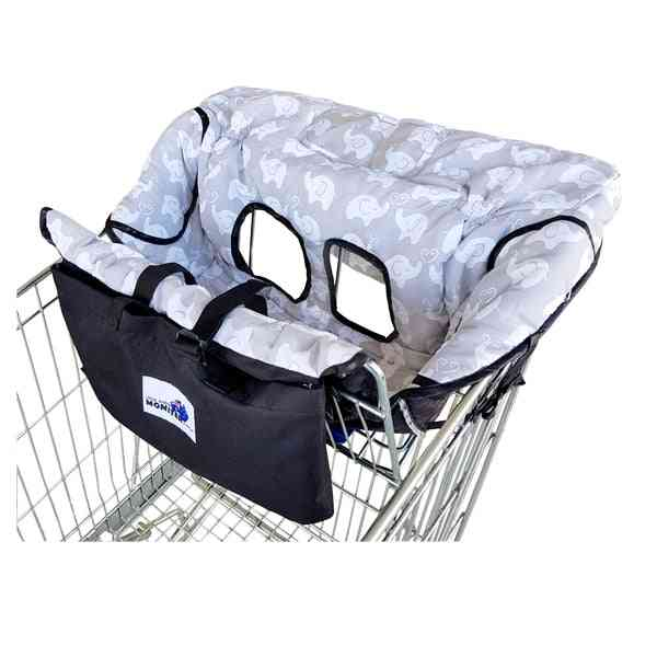Owl And Elephant Trolley Cover For Baby With Smartphone Cover