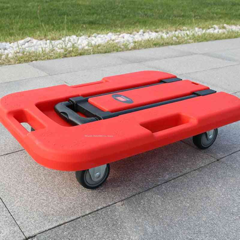 Home Portable Hand Trolley, Lightweight Small Foldable Luggage Cart With Wheels