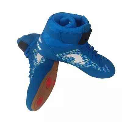 Gym Sport Wrestling Boots, Professional Boxing Shoes, Gear Sneakers, Weightlifting, Powerlifting Training