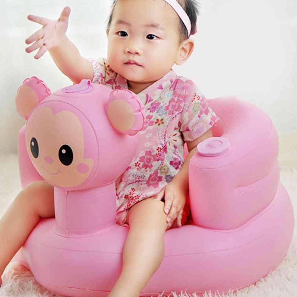 Cartoon Image Plastic Inflatable Bath Stool, Learning Dining Chair