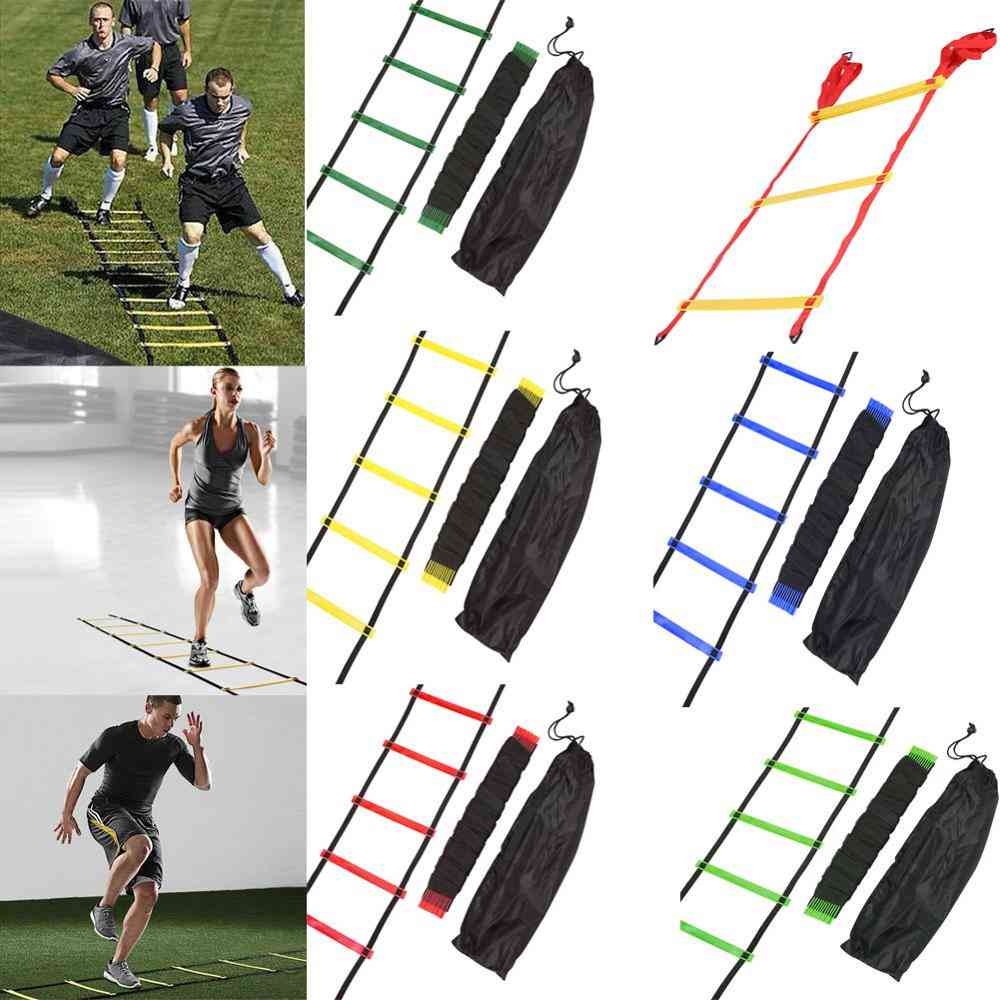 Rung Nylon Straps, Agility Training Ladders, Soccer, Football Speed Training Stairs