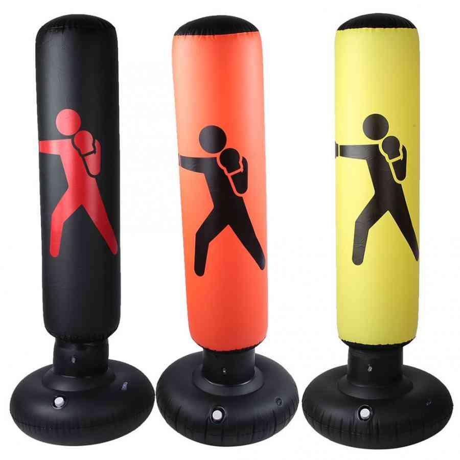 Inflatable Boxing Bag, Adult, Punch Kicking Sandbag, Pvc Tumbler Gym, Kids Training Target