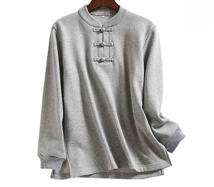 Unisex Autumn&winter Warm Tai Chi T-shirts, Wushu Suits, Martial Arts Shirt Uniforms