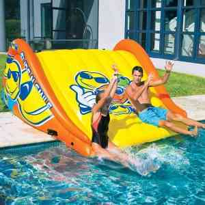 Large Water Park Sell Inflatable Long And Stimulating Water Slides