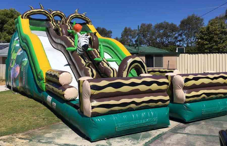 Double Lane Inflatable Water Slide For Water