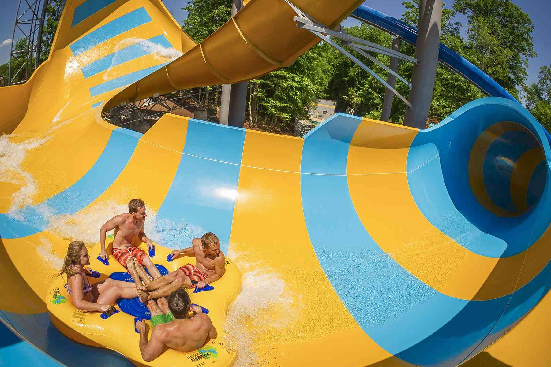Extra Long Inflatable Water Slide Community Garden City Water Park