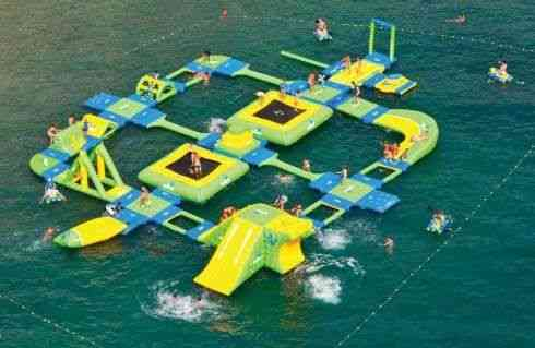 Inflatable Water Park Floating Island, Water Playground Park
