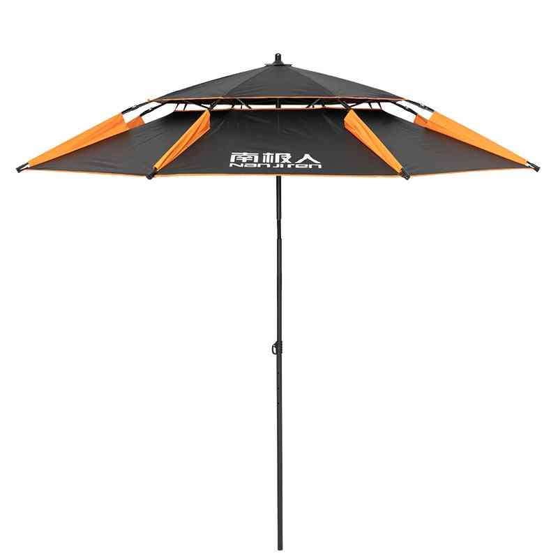 Double Layer Portable Sun Beach Umbrella, Thickened Surface For Fishing Pool, Aluminum Rod, Super Large