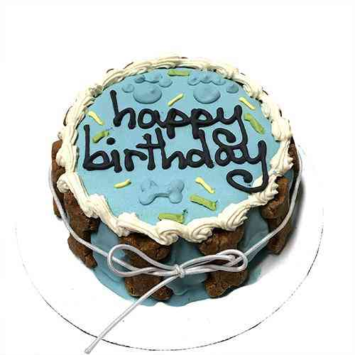 Shelf Stable, Blue Birthday Cake For Pet Dogs