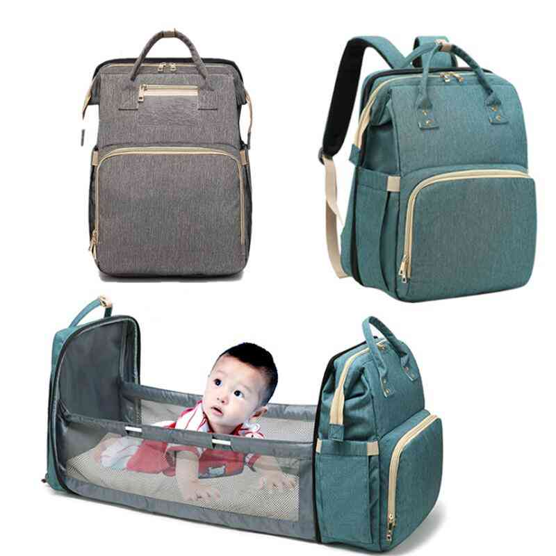 Mommy Diaper Bag, Newborn Baby Bed Backpack, Crib Bassinet, Travel Convenience Free Send Hooks With Pad