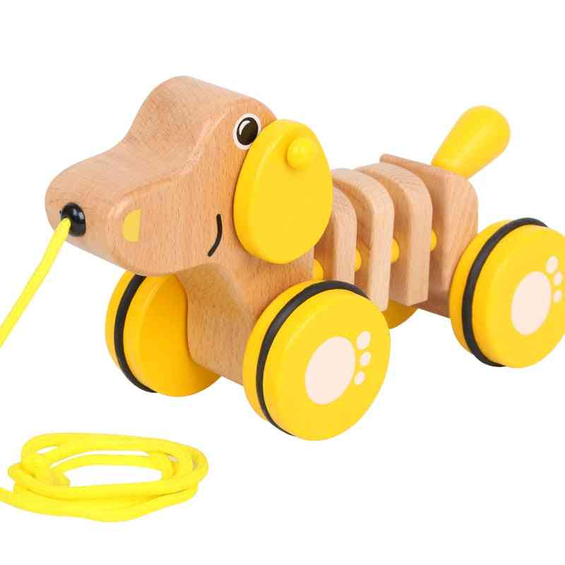 A Puller Pulling A Toy, Rope To Pula, Baby's Infant Walker. Capture / Motion Cultivation