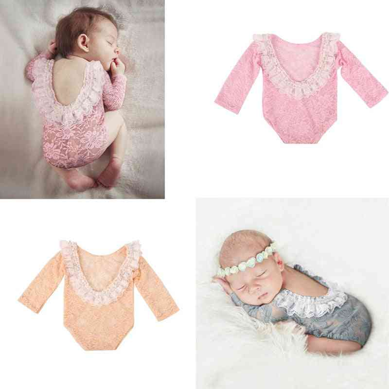 Newborn Baby Photography Props, Baby Outfit Lace Romper, Jumpsuit, Photo Shoot Costume Clothing