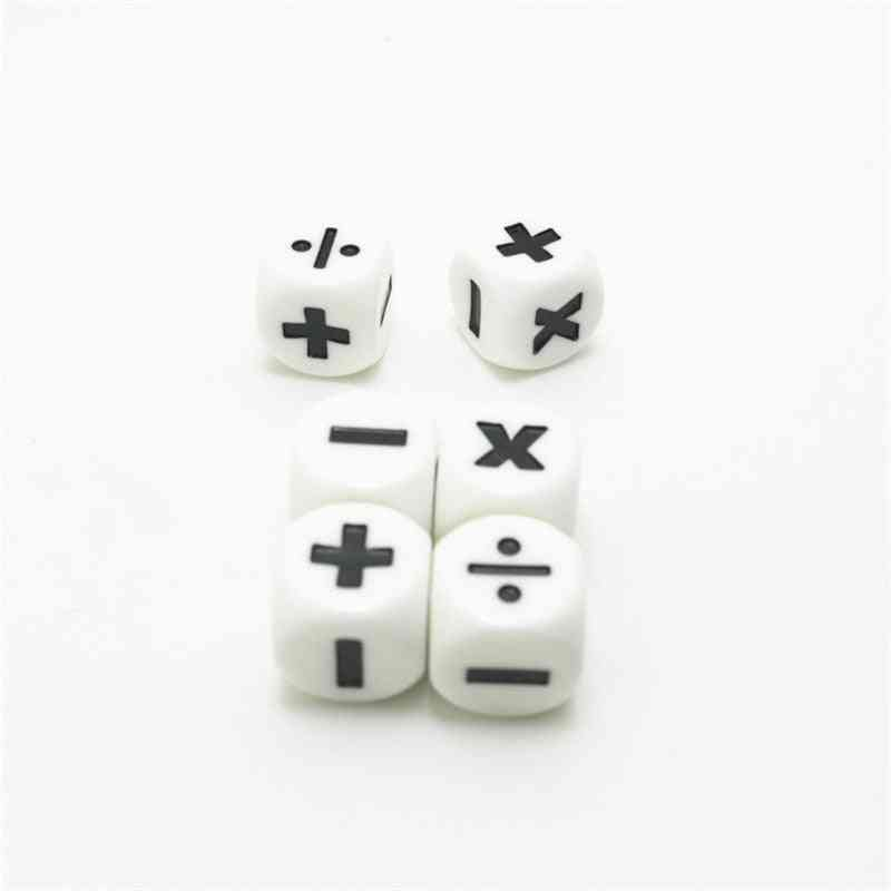 Addition And Subtraction Symbol Dice