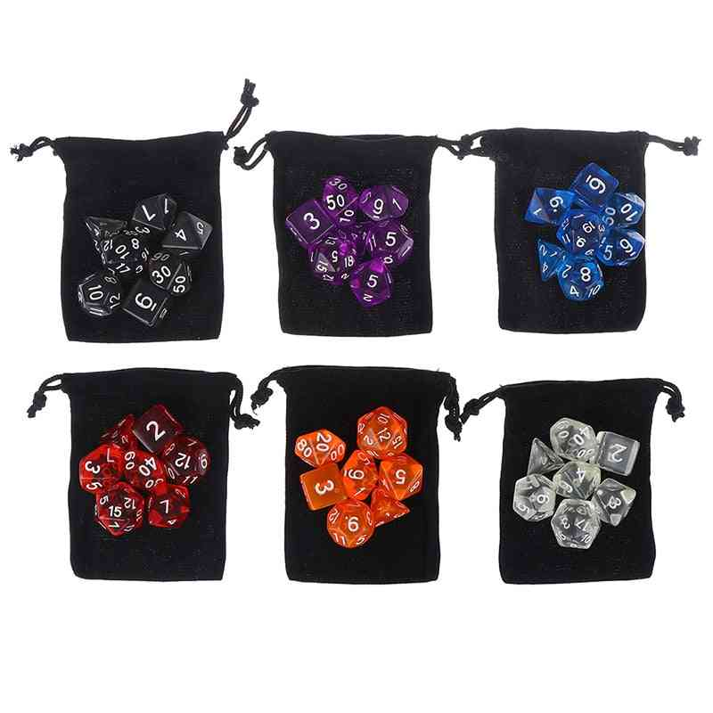 Polyhedral Dice Set For Tabletop Games