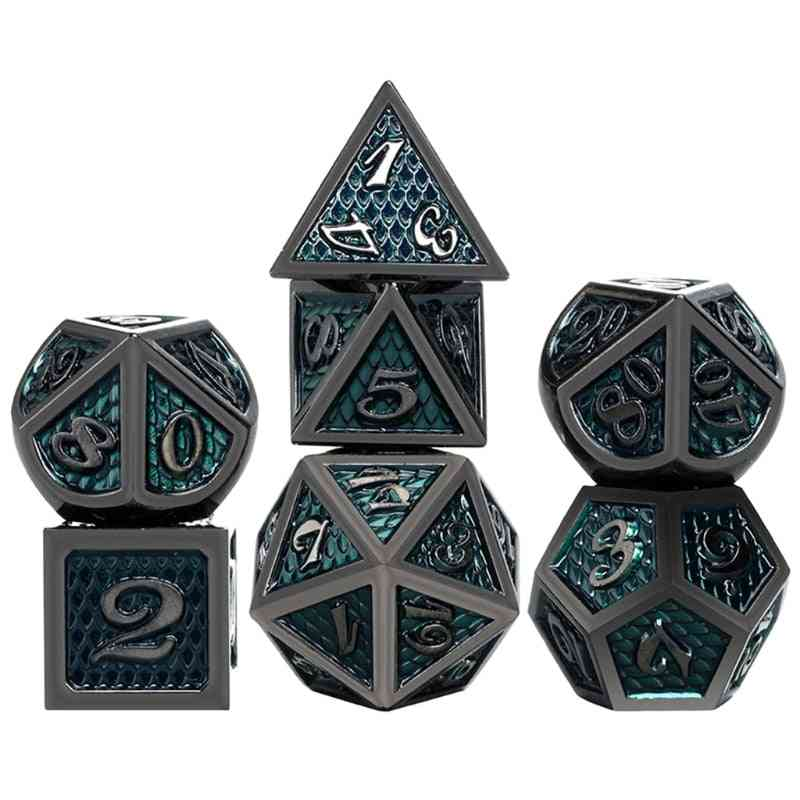 Metal Polyhedral Dice Role Playing Games