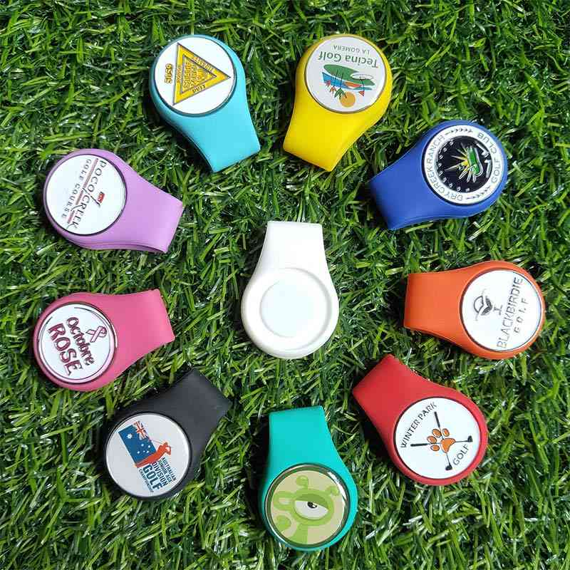 Silicone Golf Hat Clip Ball Marker Holder With Strong Magnetic Attach To Your Pocket Edge Belt Clothes Golf Accessories