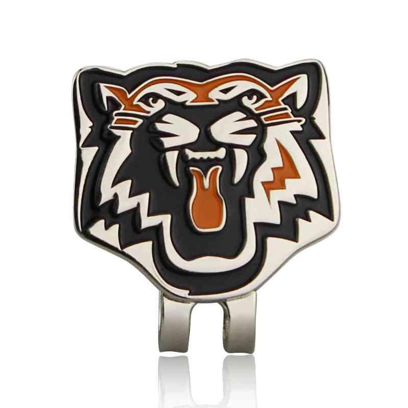 Tiger Golf Ball Marker & Magnetic Hat Clip