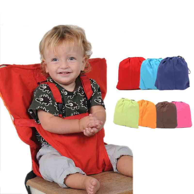Baby Portable Seat Travel, Washable Dining Feeding High Chair Seat Belts