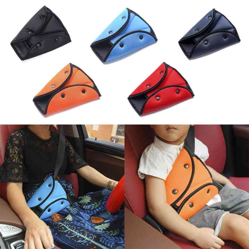 2 Pcs Child Car Seat Belt Fixator Triangle Harness Strap Safety Cover