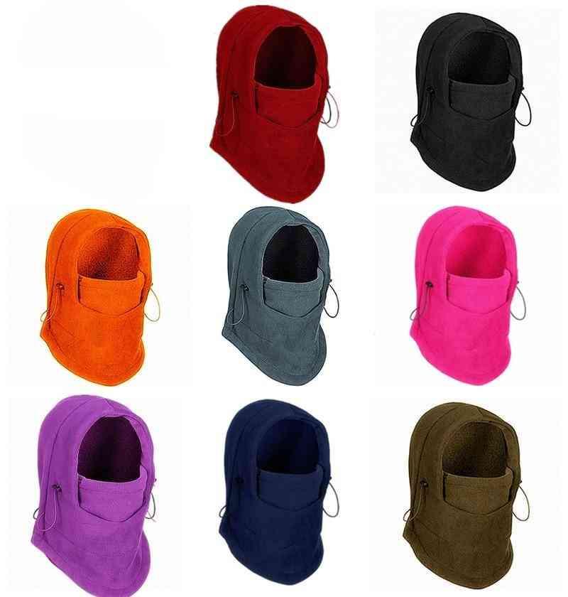 Winter Warm Cap, Fleece Balaclava Hat, Hooded Neck, Warmer Scarves