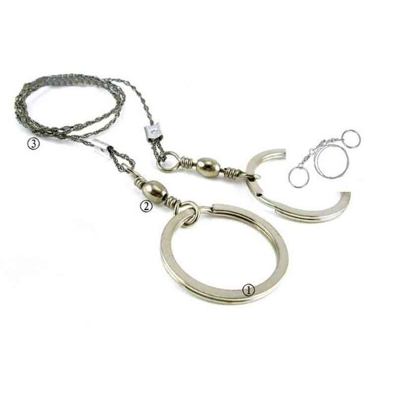 Hand Chain Saw- Fretsaw Outdoor, Steel Wire, Hunting Kits, Pocket Gear