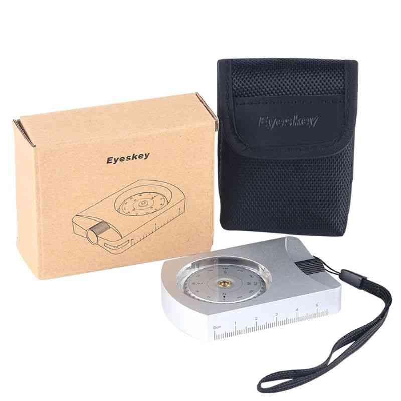 Professional Waterproof Clinometer Survival Compass, Distance Measurement