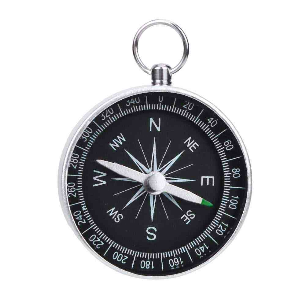 Mini Hiking Camping Outdoor Navigation Chaveiro Tool, Emergency Wild Compass
