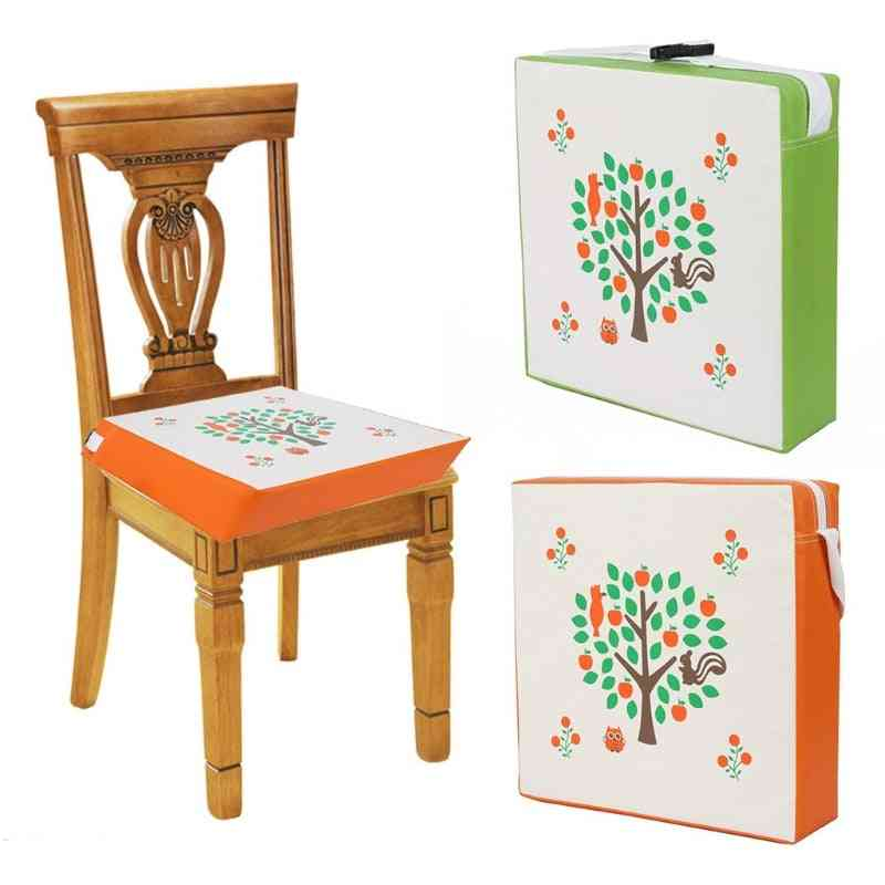 Children Increased Chair Pad, Dining Cushion Removable Leather Seat Booster