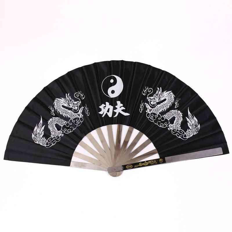 Folding Fan Stainless Steel, Tai Chi Kung Fu Wushu Gym