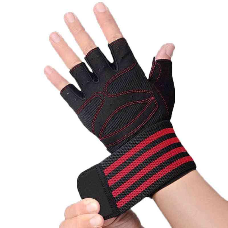 Men, Women Gym Gloves, Dumbbells Workout, Wrist Support, Anti-slip, Fitness For Weight Lifting Cross Training