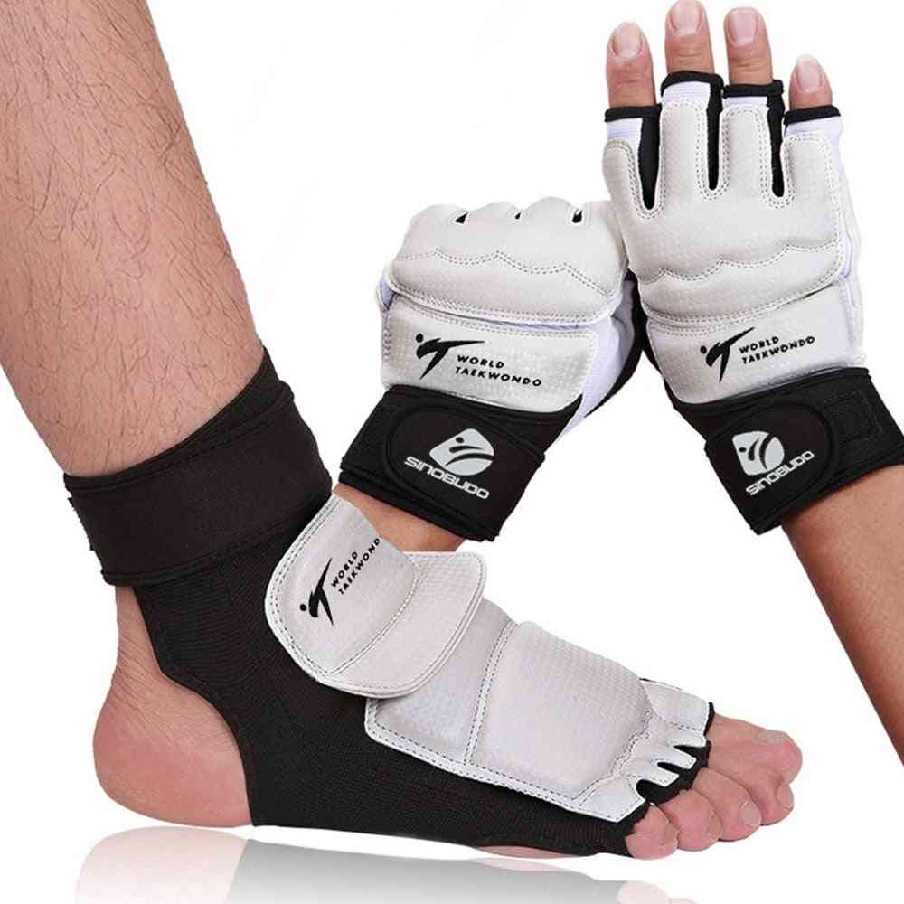 Adult Child Protect Gloves, Taekwondo Foot Protector, Ankle Support, Fighting Foot Guard, Kickboxing Boot, Wt Approved Palm Protector