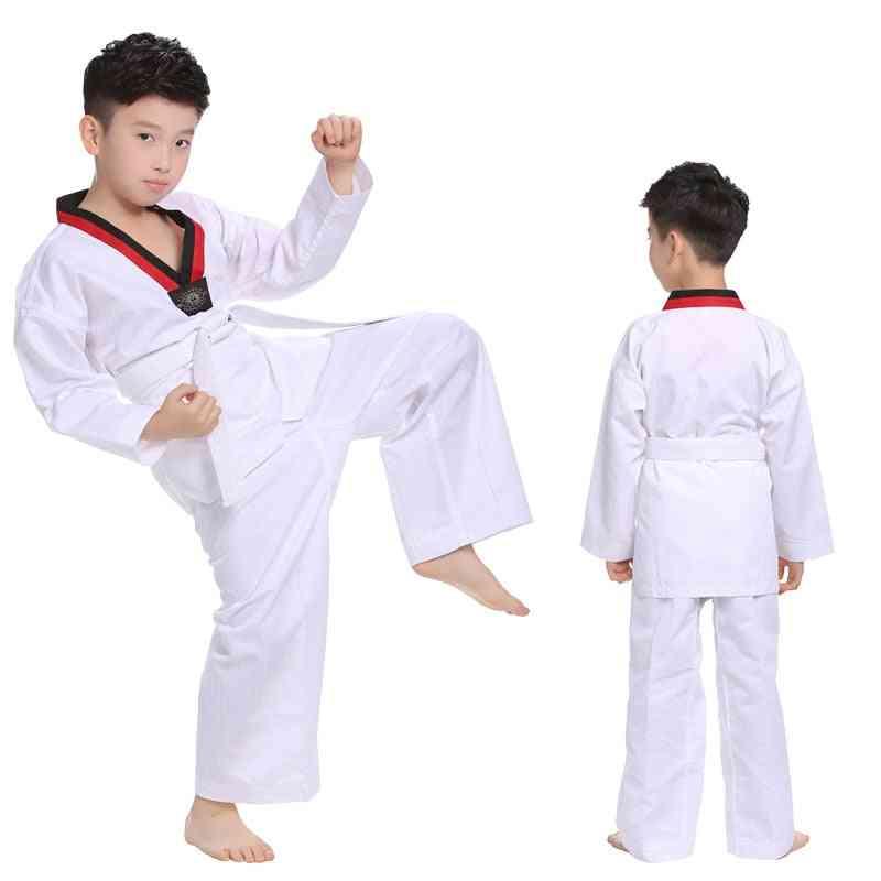 Taekwondo Uniforms, Karate Judo, Dobok Clothes,, Adult, Unisex Long Sleeve Tkd Clothing