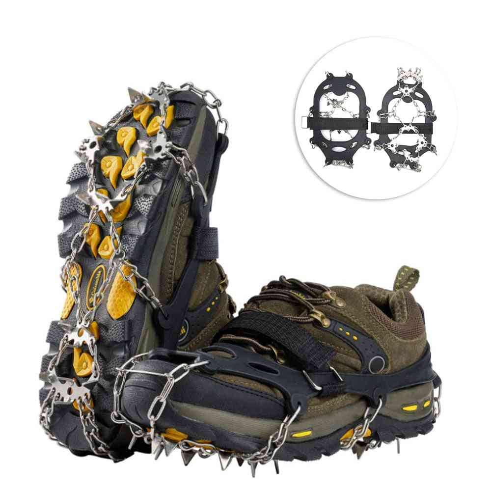 19-spikes Stainless Steel- Crampons Traction Cleats, Anti-slip Grips, Ice-snow Shoes