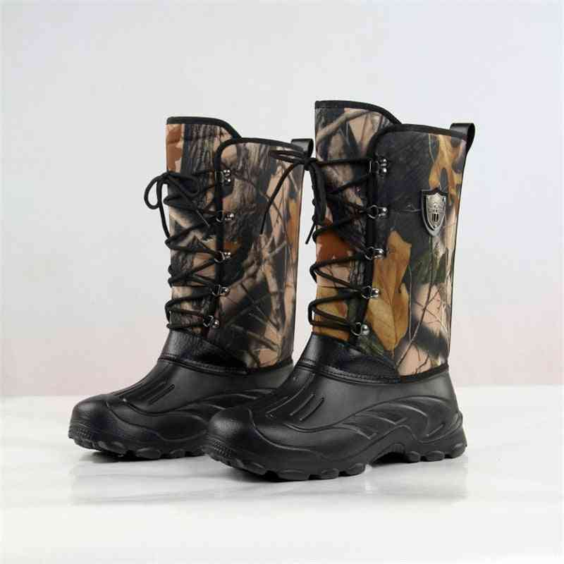 Outdoor Camouflage Waterproof Non-slip Water Boot - Military Walking Warm Ski Snow Shoes