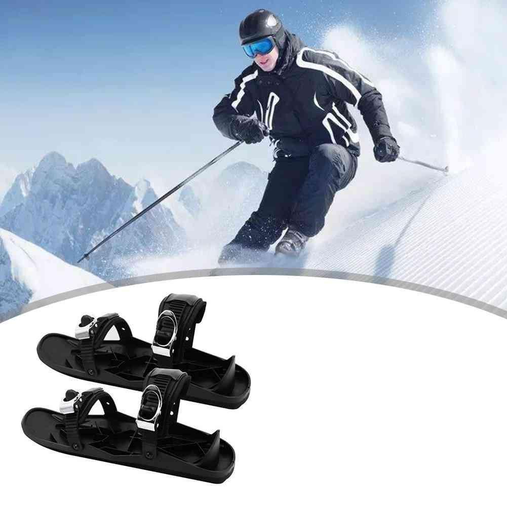 Unisex Winter Ski Skates Shoes Set, Easy Safety Exercise Skiboard Accessories