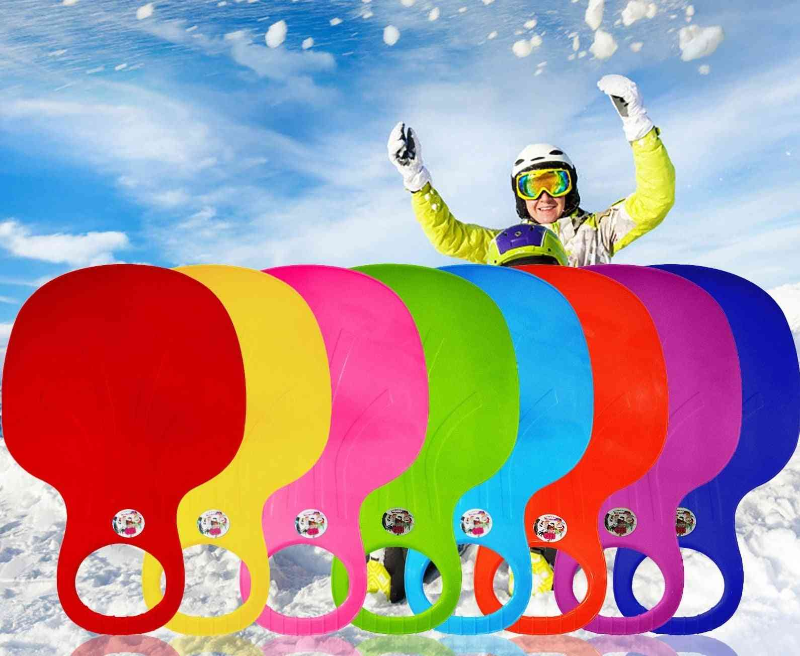 Snow Skiing Pad Sled Sledge, Skiing-board Thicken Plastic Sand Grass-sledge