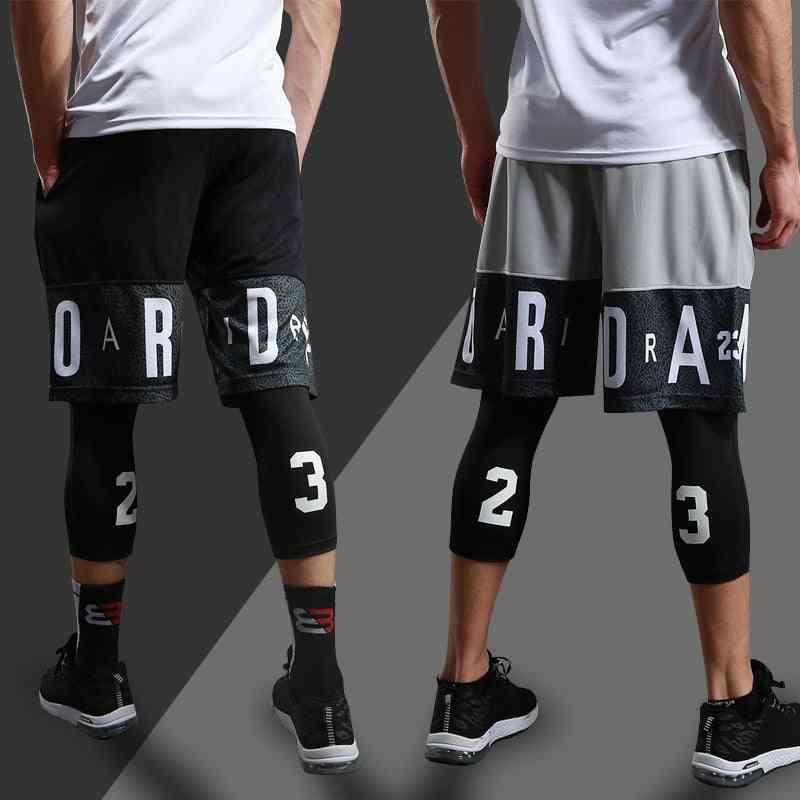 Men Running Compression Sportswear Sets - Basketball Jersey